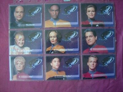Star Trek: Voyager Season 1 Series 2 X9 Embossed Crew Chase cards Skybox 1995 VF