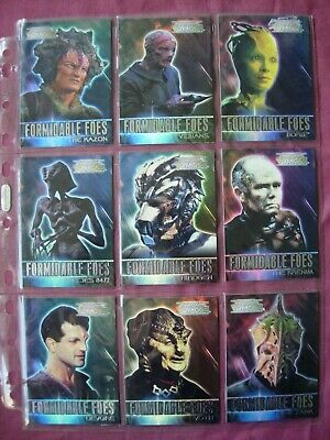 The Complete Star Trek Voyager X9 Formidable Foes Chase cards Rittenhouse 2002