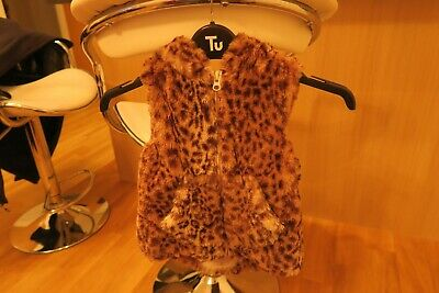 Next Fur Gilet girls age 2-3 years - Excellent condition