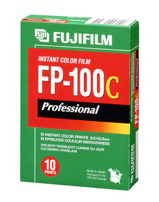 FujiFilm FP-100C ISO 3.5x4.2 in Professional Instant Color Film 2019 Expiration