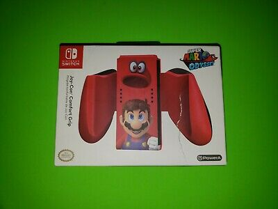 Power A Nintendo Switch Joy-Con Comfort Grip Red Super Mario Odyssey NEW SEALED
