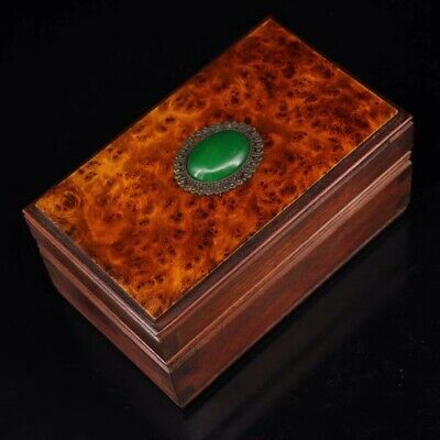 Chinese Old rosewood hand carved Build Jewelry Box