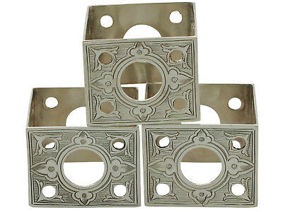 Sterling Silver Napkin Rings Set of Three - Antique Victorian 78g