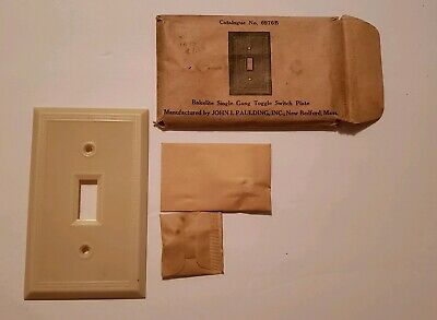 Antique Victorian New In Package Bakelite Single  Light Switch Cover Plate