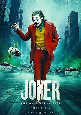 Joker 2019 Movie Poster Put On A Happy Face Decor Home High Quality 12x18