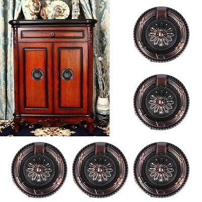 10pcs Antique Brass Kitchen Cabinet Cupboard Drawer Pull Ring Home Handle Knob