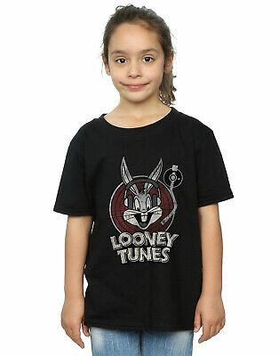 Looney Tunes Girls Bugs Bunny Circle Logo T-Shirt