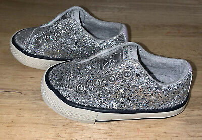 Girls Size 4 Infant Sparkly Glittery Next Shoes