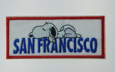 """SNOOPY San Francisco SF PEANUTS 4"""" Iron / Sew On Patch Badge Embroidery Applique"""