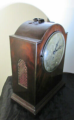 Antique English fusee bracket clock