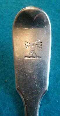 Antique English Sterling Silver Fork Hand Arrows 60.4 Grams Tipped Flatware