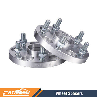 15MM Hubcentric Wheel Spacers W// Extended Studs For Honda 5x114 64.1 12x1.5
