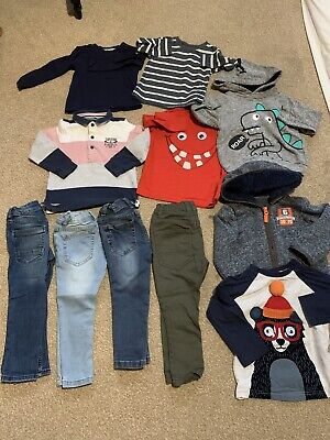 Bundle Boys Clothes Trousers Jeans Jumpers Size 2-3 Years