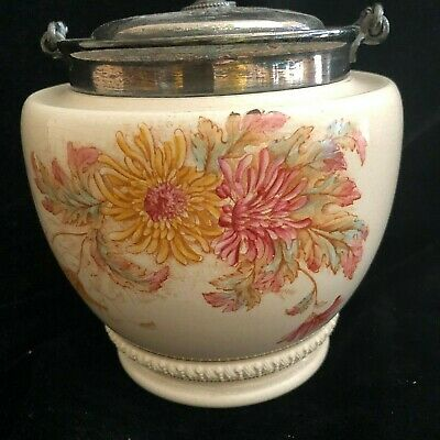 A William Wood and Co Biscuit Barrel English Staffordshire Pottery Ceramics