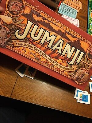 1995 Milton Bradley Jumanji Board Game Complete In Box In Excellent Condition