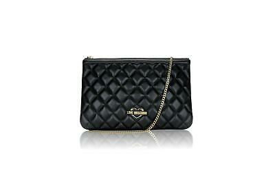 BORSA BAG LOVE MOSCHINO Prima Linea In Pelle Nera crema GOLD