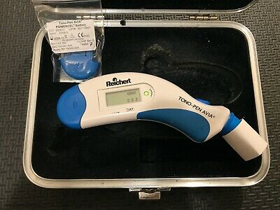 Reichert Avia Tonopen Tonometer OEM Case New Battery Good Calibration