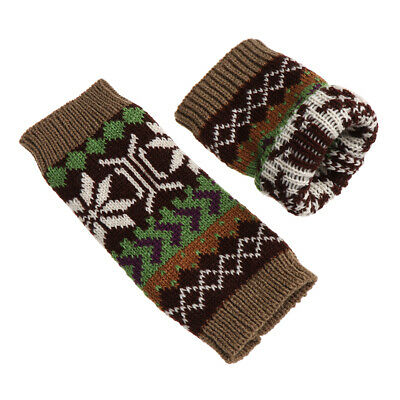 Elastic Soft Long Knitted Gloves Fingerless Mittens Snowflake Arm Warmers