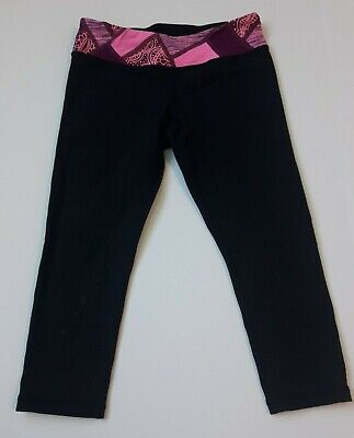 Ivivva Lululemon Crop Rhythmic Leggings Size 10 reversible