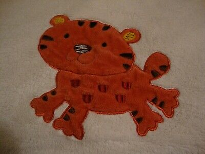 KIDS LINE BLANKET TIGER JUNGLE ANIMAL PARADE CREAM ORANGE BOA SOFT PLUSH FLEECE