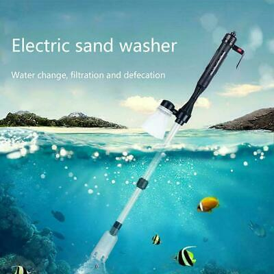 Electric Aquarium Cleaner Syphon Fish Tank Pump Vacuum Gravel Water T2N4