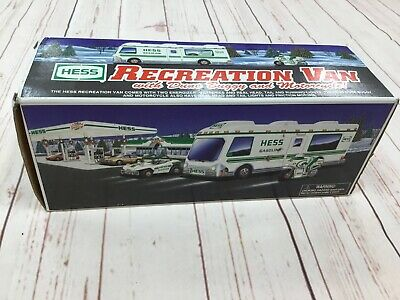 1998 Hess RV Recreation Van with Dune Buggy and Motorcycle in ORIGINAL BOX