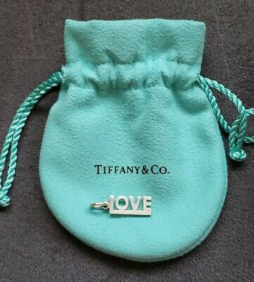 NEW Authentic Tiffany & Co. Sterling Silver 925 Small 'LOVE' Word Charm Pendant