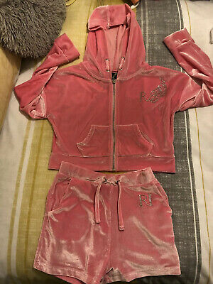 girls velour tracksuit Age 7/8