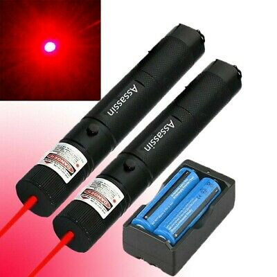 2PC 500 Miles Interactive Red Visible Beam Laser Pointer Pen Rechargeable Lazer