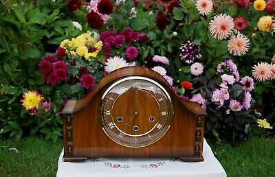 Stunning Smiths Antique Art Deco Westminster Chime Mantel Clock. 1957.