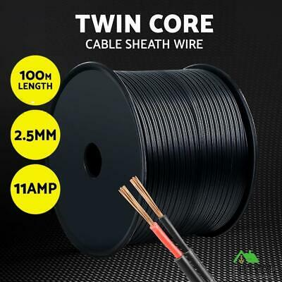 2.5MM Electrical Cable Electric Twin Core Extension Wire 100M Car 450V 2 Sheath