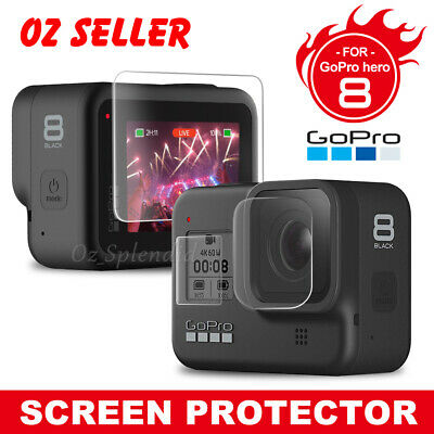 3in1 Tempered Glass Screen Protector Film Guard For GoPro Hero 8 Black Camera