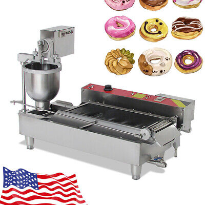 Stainless steel Commercial Electric Automatic Doughnut Donut Maker Machine Bid