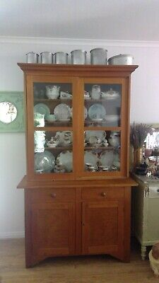 Antique Kitchen Dresser glass sliding doors and cupboards on bottom