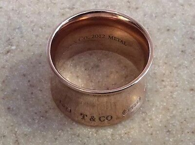 Tiffany & Co 1837 Wide ring in Solid Rubedo metal Signed By Tiffany Founder 5.5