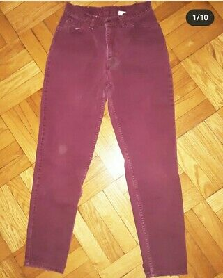 RARE VTG Womens PURPLE Levis 912 Slim Fit Tapered Leg High Waist Mom Jeans sz 11