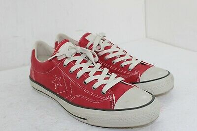 Converse All Stars John Varvatos Red Size 13 Leather In Great Condition