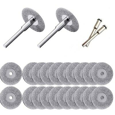 10X(20 Pieces 22 Mm Diamond Cutting Wheel Cut Off Discs Coated Rotary Tools R5C7