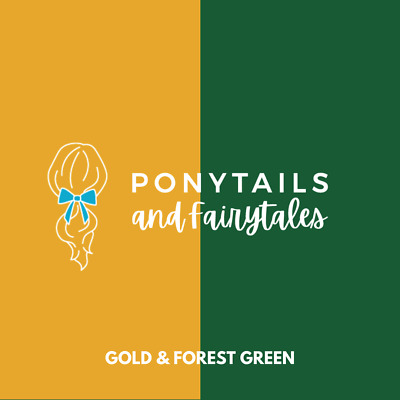 Forest Green & Gold Hair Accessories