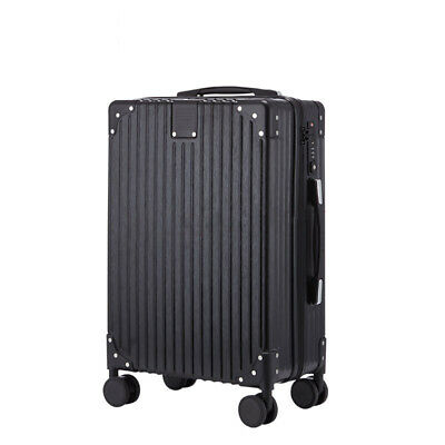 24'' ABS Trolley Carry On Travel Luggage Set Bag Spinner Suitcase w/Lock Black