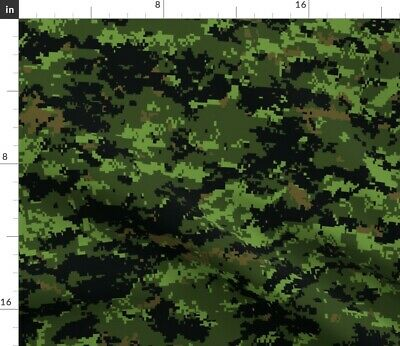 Camo Canadian Pattern Camouflage Night Vision Fabric Printed by Spoonflower BTY
