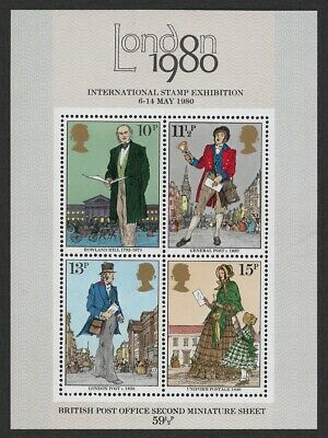 London 1980 Stamp Exhibition Miniature Sheet No 2 MS1099 Rowland Hill MNH