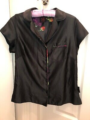 B By Ted Baker Silky Pyjama Top Size 10