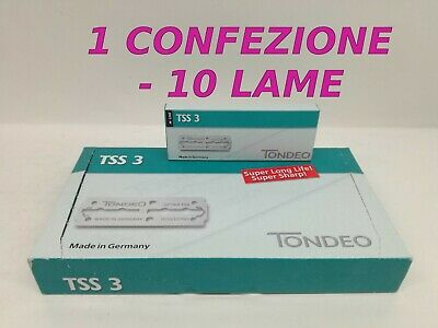 Tondeo Tss 3 Lama Lunghe - Made In Germany - 1 X 10 Lame -