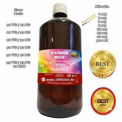 1 Liter E Liquid Base DIY-Set 0/3/6/12mg Nikotin 50/50 70/30 E-Zigarette PG VG