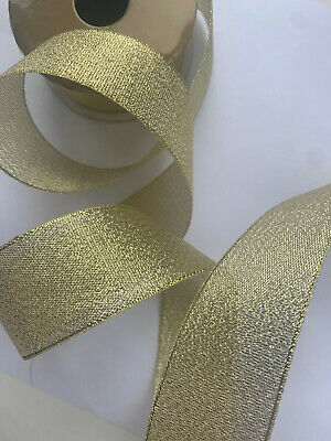 1 Metre 30mm Gold Sparkly Organza Ribbon Wedding Cake Baby Shower Christmas