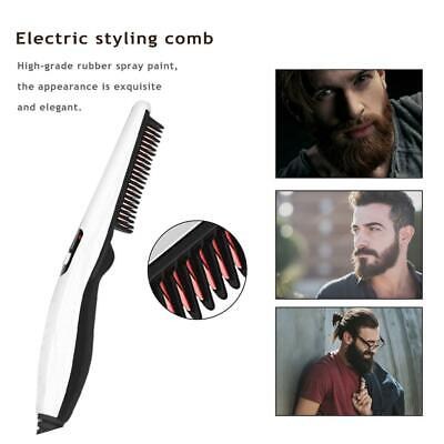 Beard Straightener Comb Quick Electric Heated Brush Styler For Men Travel Bz