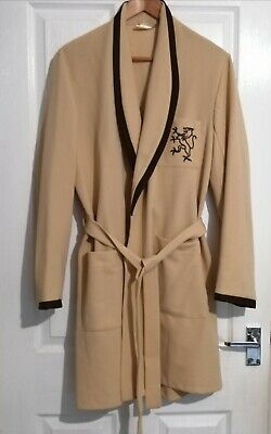 Vintage Mens Crimplene House Coat Dressing Gown Robe Size M 37-39""