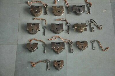 10 Pc Old Iron Handcrafted Unique Shape Solid Padlocks