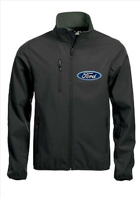 FORD Quality Softshell Jacket Coat Black Embroidered Sizes S-5XL
